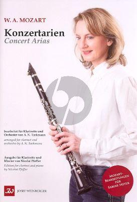Mozart  Konzertarien für Klarinette und Orchester (Klavierauszug) (Nicolai Pfeffer)