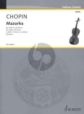 Chopin Mazurka a-moll Op. Posth fur Violine und Klavier (Bearbeitet von Fritz Kreisler)
