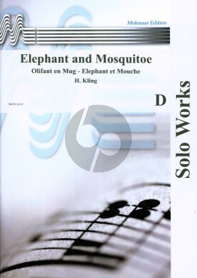 Kling Elephant and Mosquito (Elefant und Mucke / Olifant en Mug) Op.520 Piccolo (Fl/S-Sax) Trb (/Tuba/Vc) and Piano