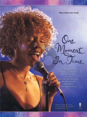 Whiyney Houston One Moment in Time Music Minus One Vocals Book with Cd