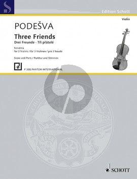 Podesva Three Friends Sonatina for 3 Violins (Score/Parts)