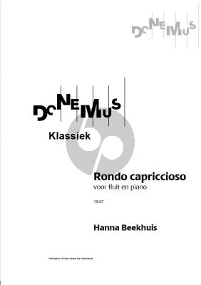 Beekhuis Rondo Capriccioso (1947) for Flute and Piano Score and Part