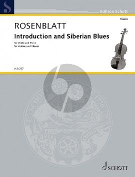 Rosenblatt Introduction and Siberian Blues Violin and Piano