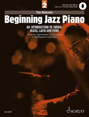 Richards Beginning Jazz Piano Vol. 2 (An Introduction to Swing, Blues, Latin and Funk) (Book with Audio online)