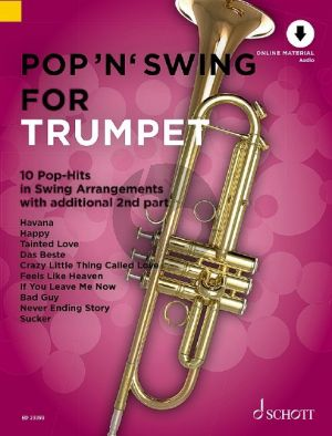 Pop 'n' Swing for Trumpet 1 or 2 Trumpets (Book with Audio online) (arr. Uwe Bye)