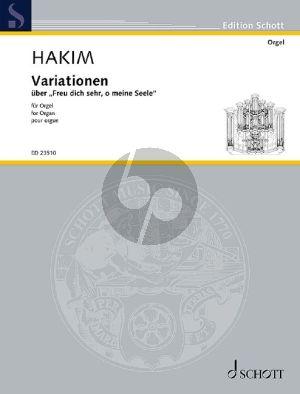 """Hakim Variations on """"Freu dich sehr, o meine Seele"""" Organ"""