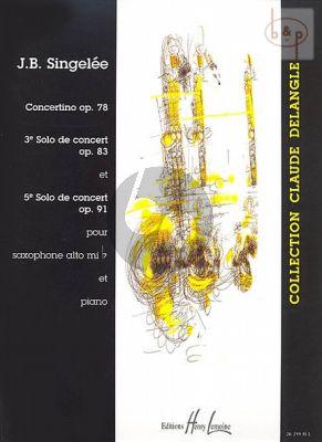 Concertino Op.78 - 3e Solo de Concert op.83 et 5e Solo de Concert Op.91