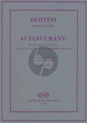 Bertini 45 Studies Piano (Kálmán Chován)