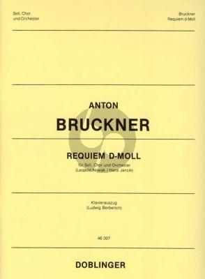 Bruckner Requiem d-Moll (Soli-Chor-Orchester mit Orgel) (Klavierauszug) (Ludwig Berberich)