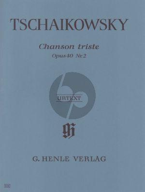 Tchaikovsky Chanson Triste Op. 40 No. 2 Klavier (Ludmilla Korabelnikova and Polina Vajdman) (Henle-Urext)