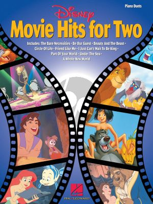 Disney Movie Hits for Two piano 4 hds