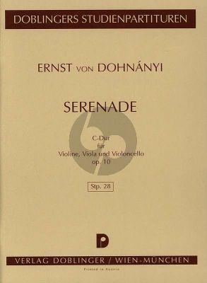 Dohnanyi Serenade Opus 10 Violine-Viola-Violoncello (Studienpartitur)