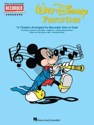 Disney Disney Favorites for Recorder Solo or Duet