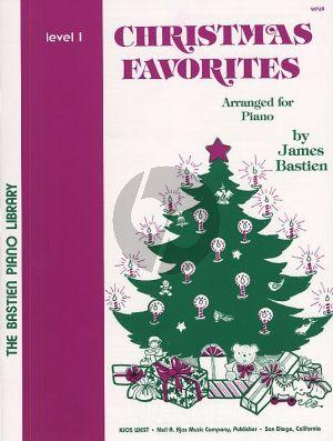 Bastien Christmas Favorites level 1 Piano solo