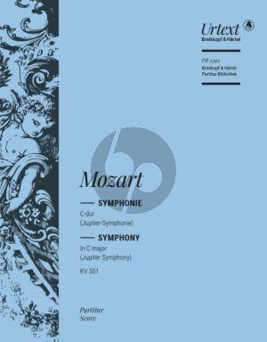 Mozarty Symphony No.41 C Major KV 551 Jupiter Symphony Fullscore Breitkopf Urtext Edition Cliff Eisen