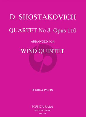 String Quartet No.8 Op.110 for Flute(Piccolo)-Oboe(Engl.Horn), Clarinet-Horn-Bassoon)
