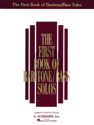 Album First Book of Baritone-Bass Solos (compiled by Joan Frey Boytim)