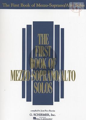 First Book of Mezzo-Soprano/Alto Solos