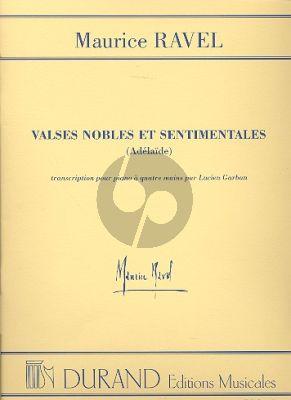 Valses Nobles et Sentimentales piano 4 mains