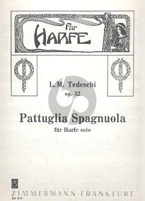 Tedeschi Pattuglia Spagnuola Op.32 Harp solo