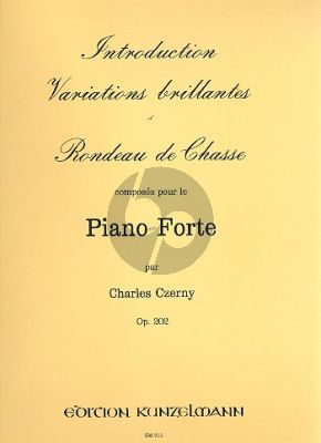 Czerny Introduction Variations Brillantes et Rondeau de Chasse Op.202 Piano