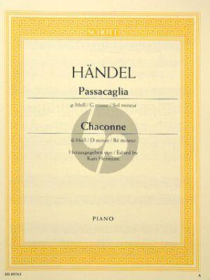 Handel Passcaglia g-moll mit Chaconne d-moll Klavier