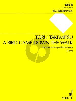 Takemitsu A Bird Came Down the Walk Viola and Piano