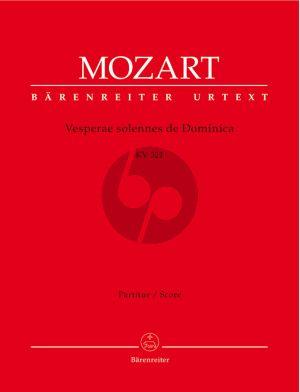 Mozart Vesperae solennes de Domenica KV 321 Soli-Chor-Orchester-Orgel Partitur (Barenreiter-Urtext)