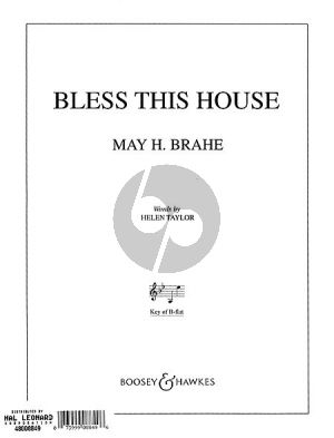 Brahe Bless this House Low Voice (Bb)-Piano