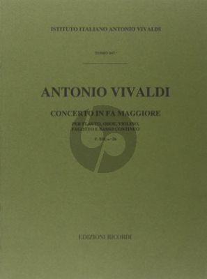 Vivaldi Concerto F major RV 99 F.XII n.26 Flute-Oboe- Violin-Bassoon and Bc (Score) (Malipiero)
