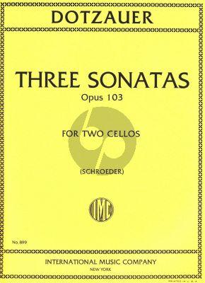 Dotzauer 3 Sonatas Opus 103 2 Violoncellos (Carter Enyear and Alwin Schroeder)