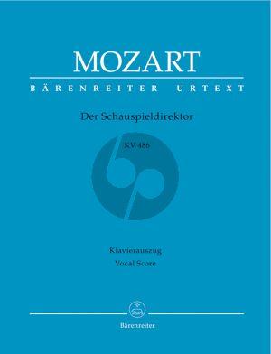 Mozart Der Schauspieldirektor (The Impressario) KV 486 Vocal Score (german) (edited by G.Croll)