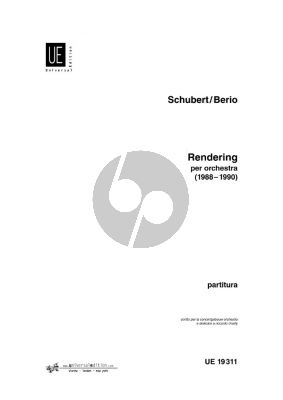 Berio Schubert Rendering (1988-1990) for Orchestra Fullscore