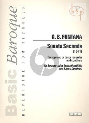 Sonata Seconda Soprano or Tenor recorder and Continuo