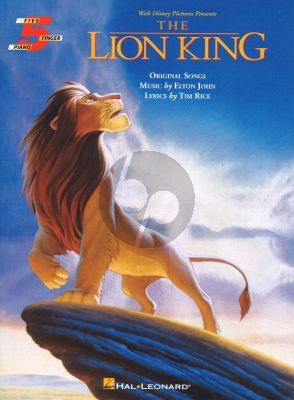 Rice J. Lion King 5 finger piano (Walt Disney Pictures) (very easy)