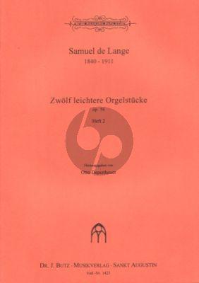 Lange 12 Leichtere Orgelstucke Op.56 Vol.2