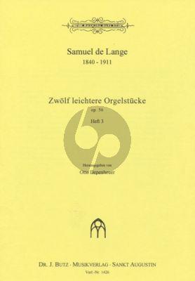 Lange 12 Leichtere Orgelstucke Op.56 Vol.3