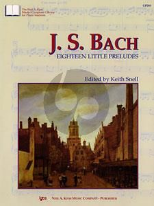 Bach 18 Little Preludes for Piano (eddited by Keith Snell)
