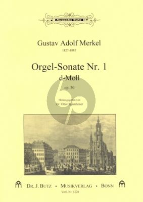 Merkel Sonate No. 1 d-moll Orgel (Otto Depenheuer)