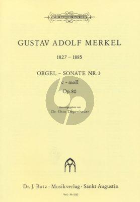 Merkel Sonate No. 3 c-moll Orgel (Otto Depenheuer)