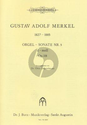 Merkel Sonate No. 5 d-moll Orgel (Otto Depenheuer)