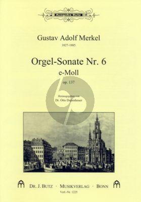 Merkel Sonate No. 6 e-moll Orgel (Otto Depenheuer)
