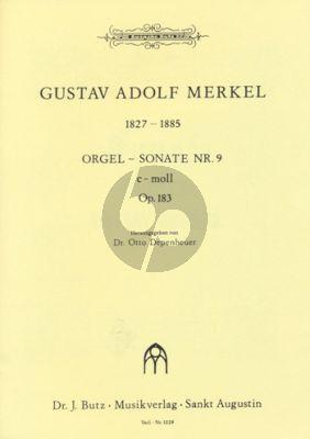 Merkel Sonate No. 9 c-moll Op.183 Orgel (Otto Depenheuer)