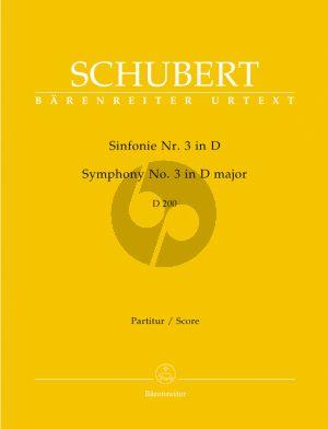 Schubert Symphonie No.3 D-dur D.200 Partitur
