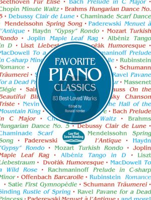 Favorite Piano Classics (edited by Ronald Herder)