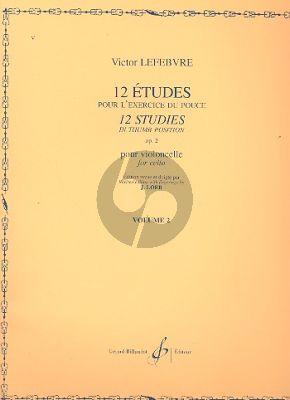 Lefebvre 12 Etudes in Thumb Position Op.2 Vol.2 Violoncello (Loeb)