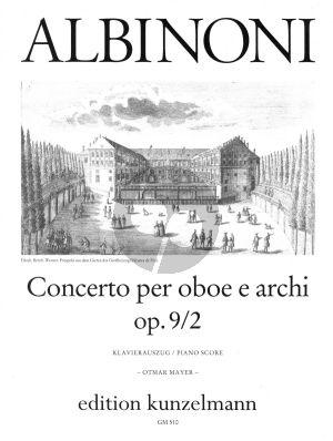 Albinoni Concerto d-moll Op. 9 No. 2 Oboe-Streicher (Klavierauszug) (Otmar Mayer)