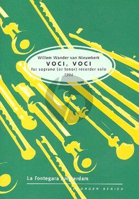 Nieuwkerk Voci, Voci (1994) Tenor or Descant Recorder solo