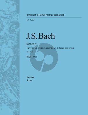 Bach Concerto a-moll BWV 1065 4 Cembali-Str.-Bc Partitur