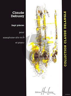 Debussy 7 Pieces Saxophone alto et Piano (Voirpy)